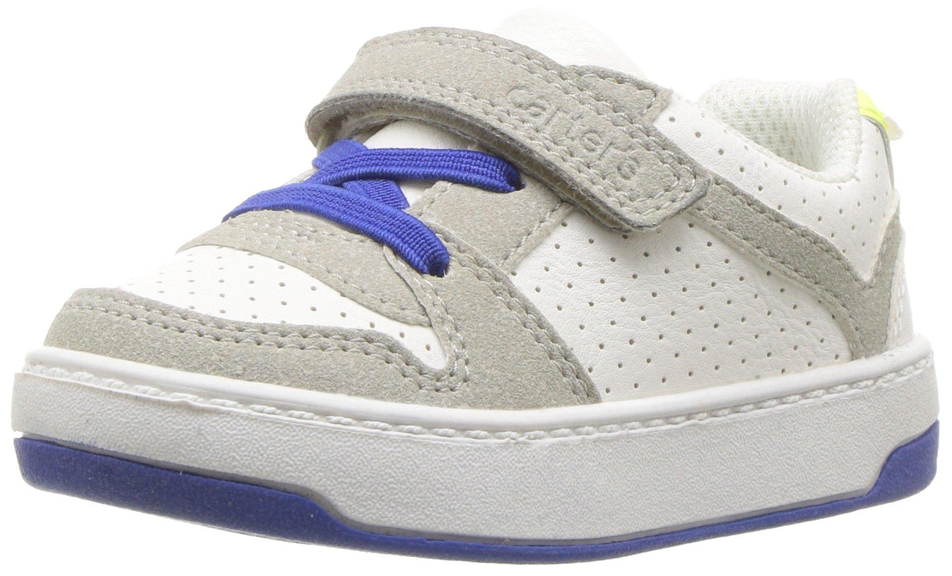 Carter's Boys' Vick Athletic Sneaker, White, 12 M US Little Kid