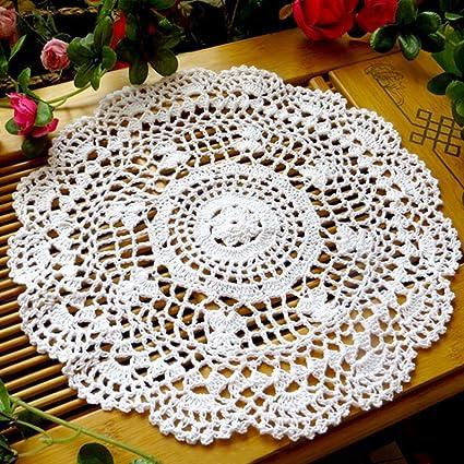 tianfuheng Vintage hohl Blume Tisch-Sets Hand gehäkelt Spitze ...