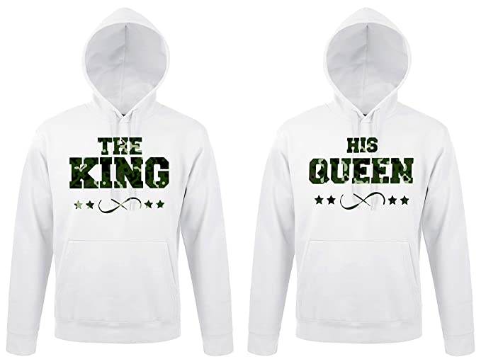 """TRVPPY 2x Pareja Suéter Sudadera con capucha / Modelo """"THE KING + HIS QUEEN"""""""