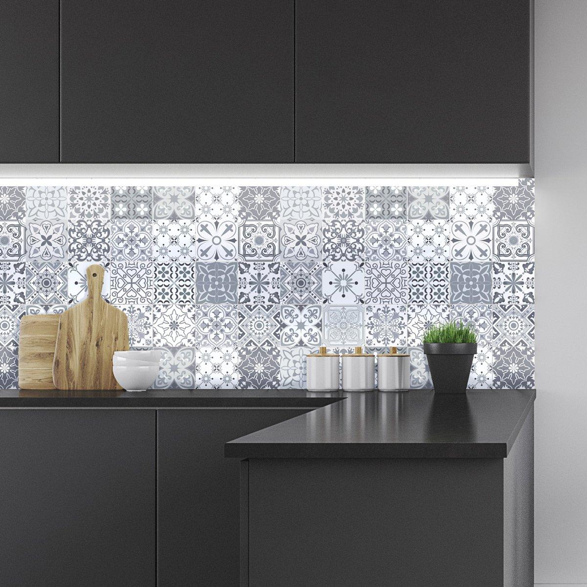 ambiance-live col-tiles-ros-a907_ 15x 15cm adesivi adesivi piastrelle, Multicolore, 15x 15cm, set di 24pezzi col-tiles-ROS-A907_15x15cm