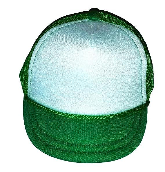Amazon.com  Baby Infant Blank Mesh Trucker Hat Cap Newborn Green ... 9867ef81759