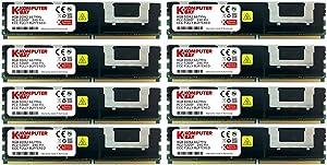 64GB Kit (8x8GB) Fully Buffered DDR2 Server Ram/Memory PC2-5300 667MHz DDR2 DIMM ECC (Fully Buffered) FBDIMM 240 Pin 1.8V