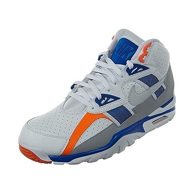 huge discount 56ba9 6fac8 Nike Mens Air Trainer SC High Shoes WhitePure PlatinumHyper Cobalt 302346-