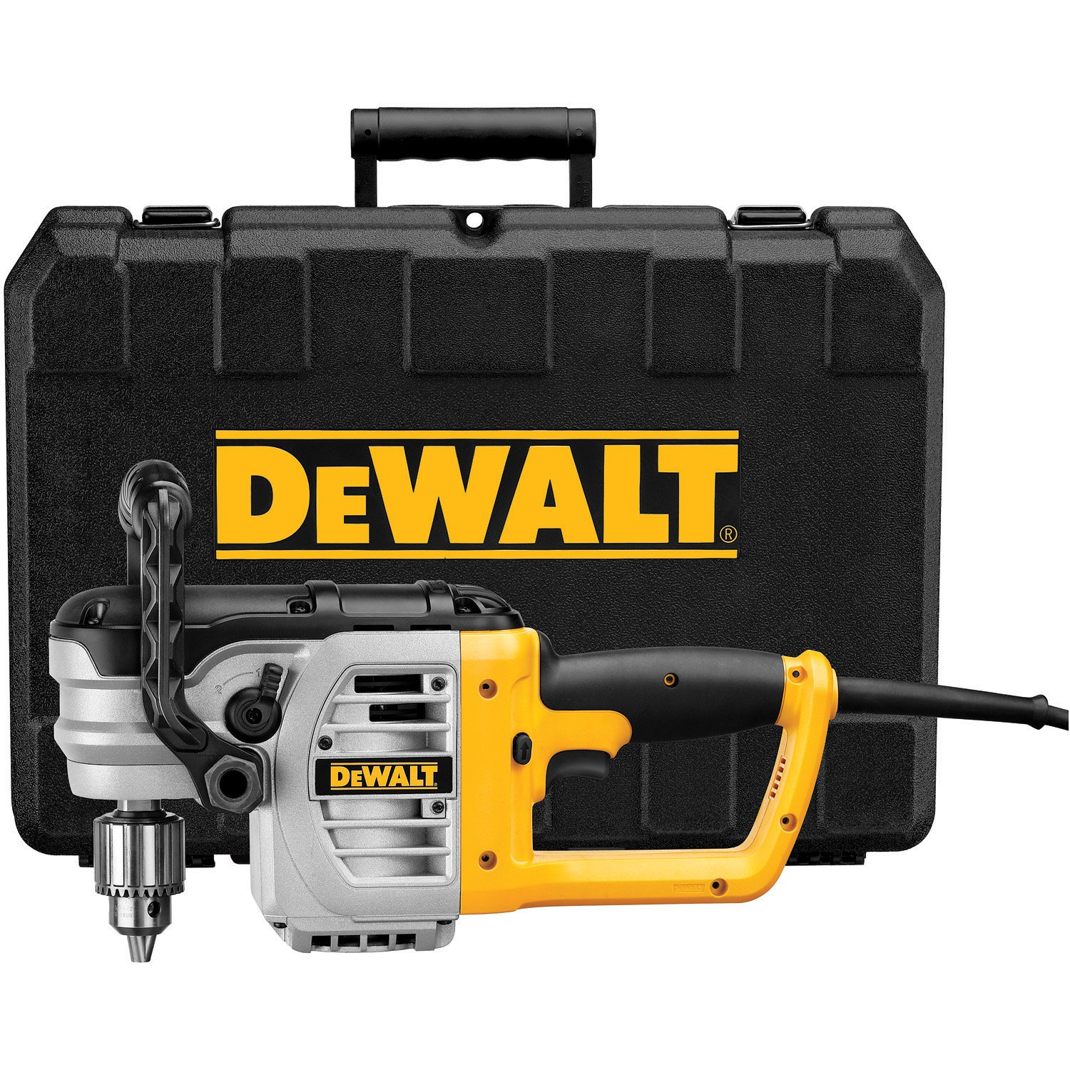DEWALT Electric Drill, Right Angle Stud and Joist, Bind-Up Control, 1/2-Inch, 11-Amp (DWD460K) by DEWALT