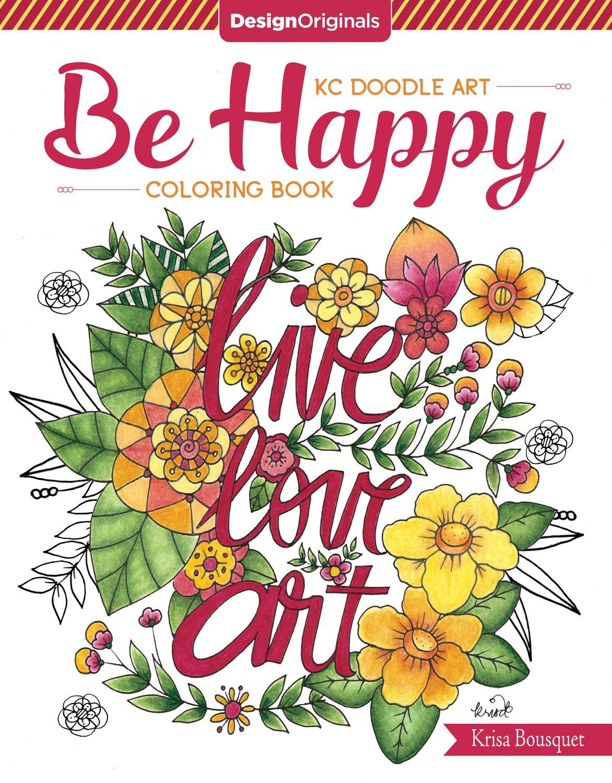 KC Doodle Art be Happy Coloring Book: Amazon.de: Krisa Bousquet ...