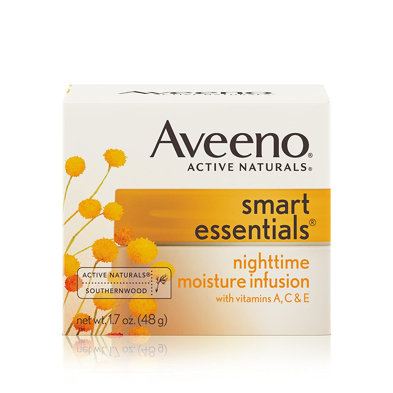 Aveeno Smart Essentials Nighttime Moisture Infusion, 1.7 oz.