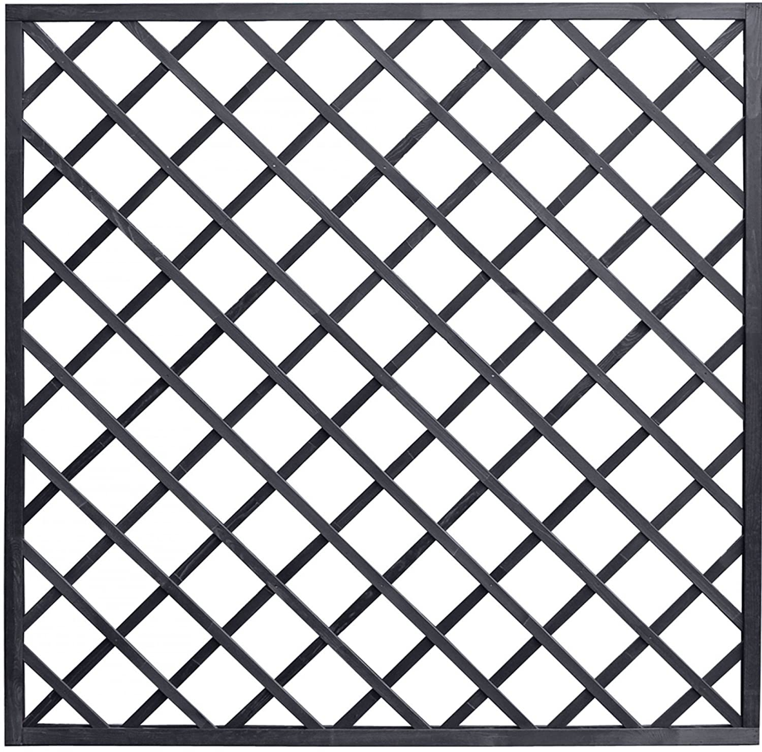Andrewex wooden fence, fencing panel, garden fence 180 x 180, varnished, anthracite