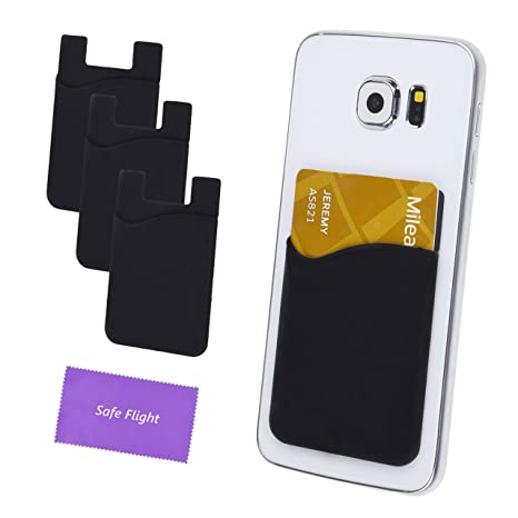 official photos ff85a d94cb Credit Card/ID Card Holder - Can be attached to almost any Phone - Always  carry your Essential Cards with your Phone - Silicone Material will keep  its ...