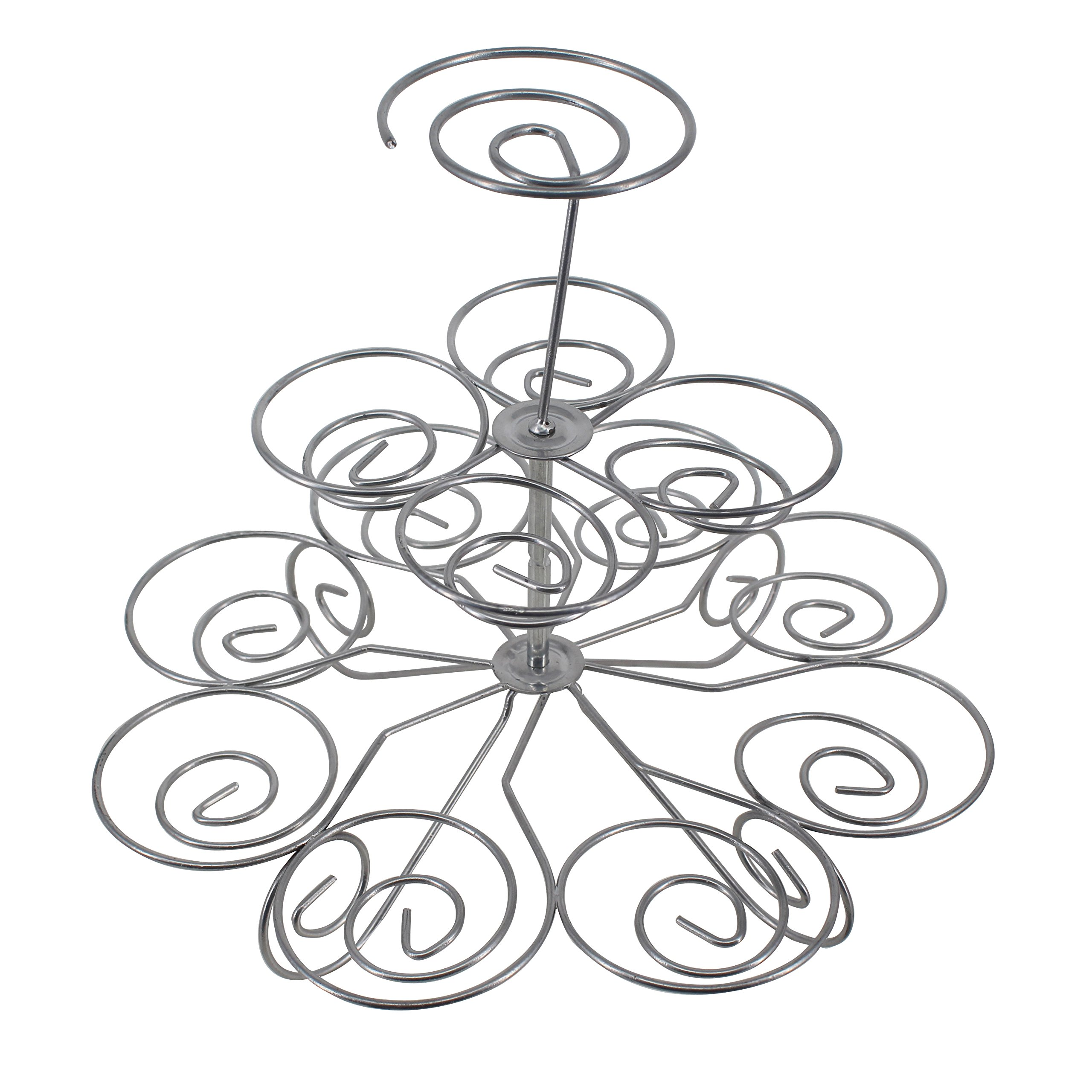 Greatflower Metal Cupcake Stand can hold 13 pcs cupcakes for birthday wedding party,3 layers