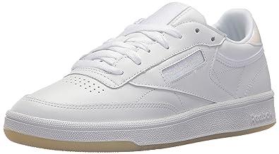a2c2958c851bb Reebok Women s Club C 85 LTHR Sneaker Pearl White ice