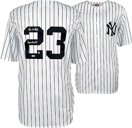 buy popular 6e256 2450b Don Mattingly New York Yankees Autographed White Majestic ...