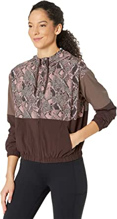Skechers Women's Bomber Jacket, Ink Floral Print (Reversable to BLK)