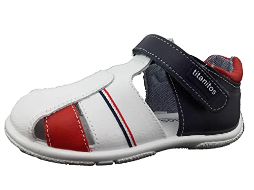7bfa308cc Sandalia niño Piel Lavable - Cierre Velcro (20)  Amazon.es  Zapatos ...