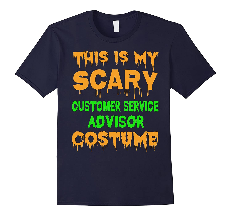 Scary Customer Service Advisor Halloween Costume T-Shirt-FL
