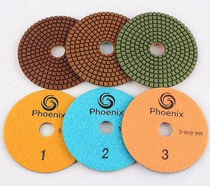 "3Pcs 4/"" 3 Steps Diamond Granite Polishing Pads Wet Stone Polishing Pads Marble"