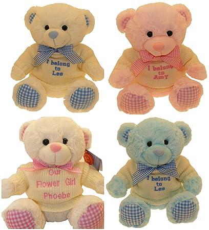 Con mensaje personalizado diseño de oso de peluche de oso de peluche, líneas del color