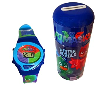 PJ Masks(Winter Heroes) Childrens Digital Watch & Money Box