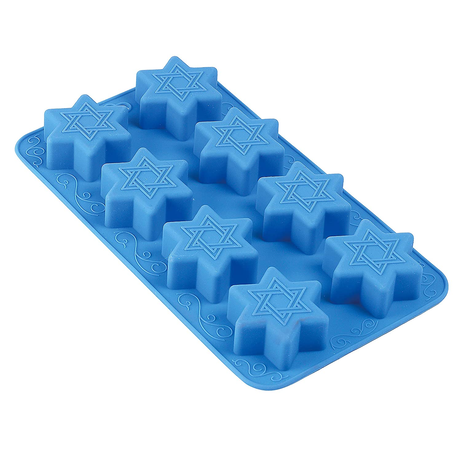 Star of David Silicone Molds - Freeze, Bake and Jel for Candy, Cookie and Ice Cube Magen Dovid Shapes - Oven and Freezer Safe - by The Kosher Cook