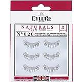 Eylure Fake Eyelash and Adhesives, 020/Black, 3 Count