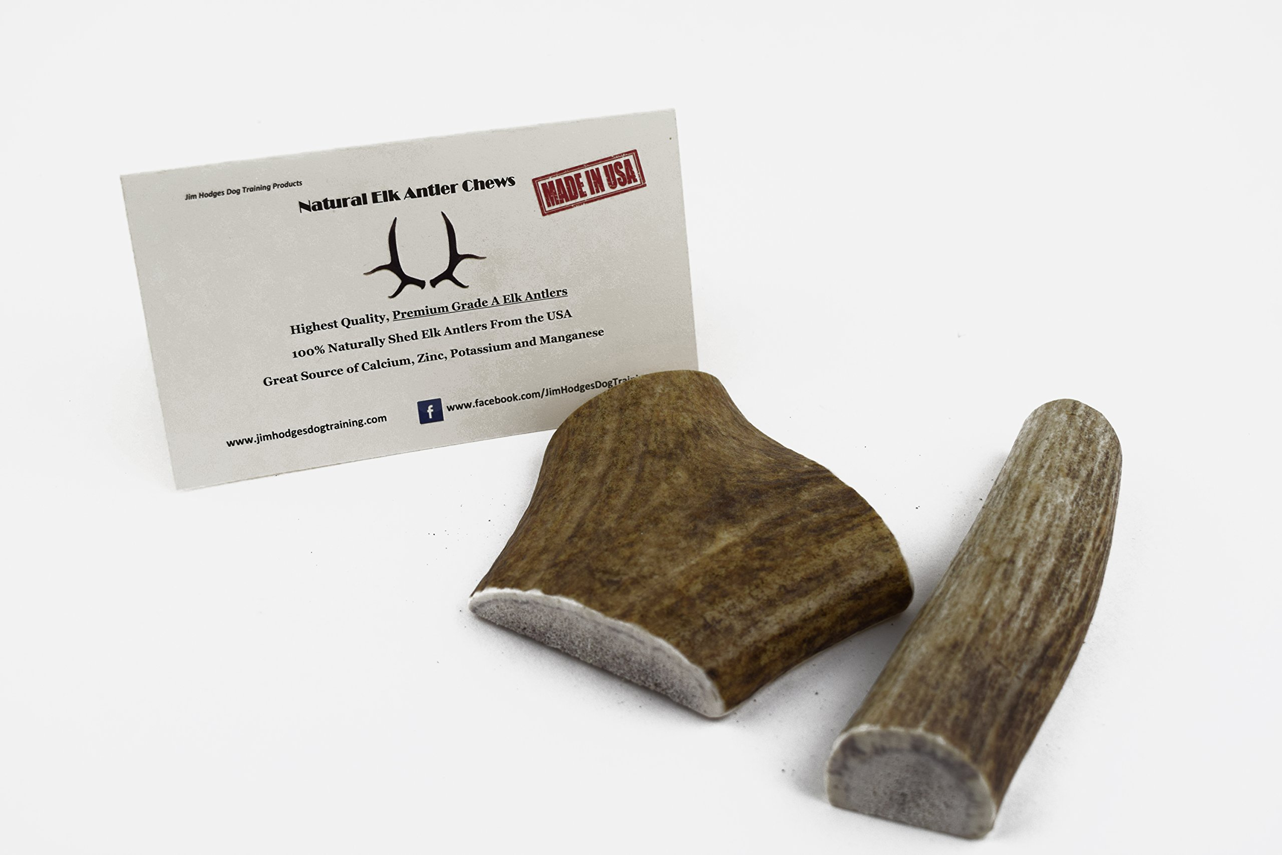 JimHodgesDogTraining Brand - Grade A Premium Quality Elk Antler Dog Chews - Small Split 2 Pack - Natural Alternative to Chew Toys, Bully Sticks, Bones, Rawhides, Himalayan, Jerky Treats - Made in USA by JimHodgesDogTraining - Grade A Antler Dog Chews (Image #7)