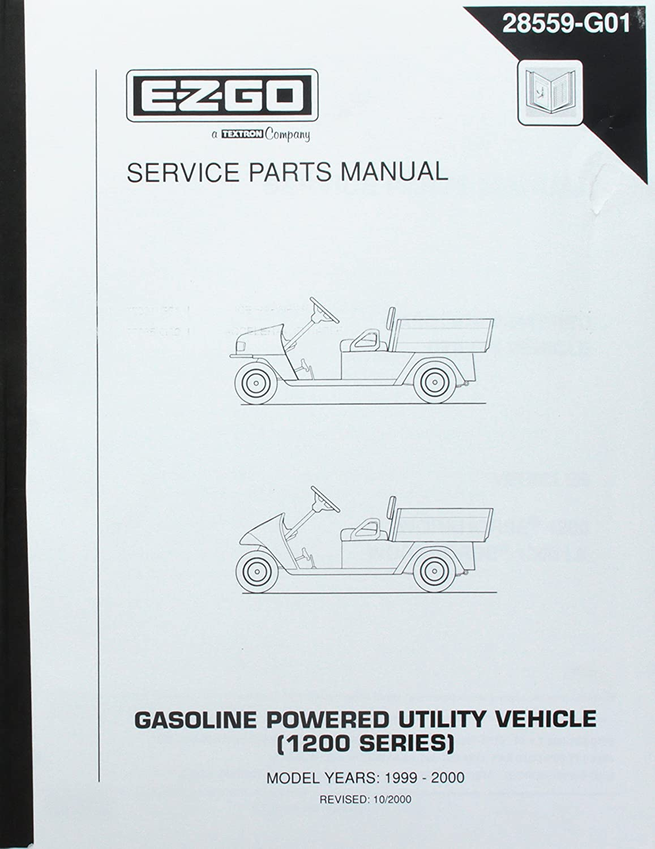 Amazon.com : EZGO 28559G01 1999-2000 Service Parts Manual for Gas 1200  Series Workhorse Utility Vehicle : Outdoor Decorative Fences : Garden &  Outdoor