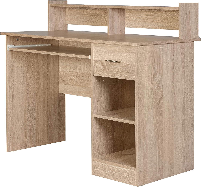 OneSpace Essential Computer Desk, Light Oak