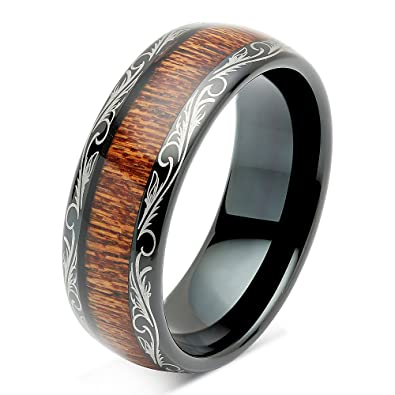 Bridal & Wedding Party Jewelry Impartial Titanium Black Rubber Flat 8mm Brushed Wedding Ring Band Size 6.50 Type Of