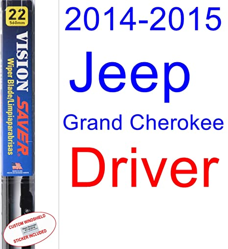 Amazon.com: 2014-2015 Jeep Grand Cherokee Wiper Blade (Driver) (Saver Automotive Products-Vision Saver): Automotive