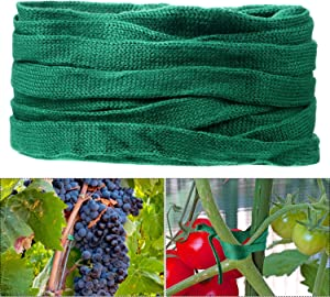 98.5 Feet Green Garden String Tomato Plant Tie Cotton Twine Soft Stretchy Plant Supports for Plants Flower Tomato Ties Craft String, 3 Rolls