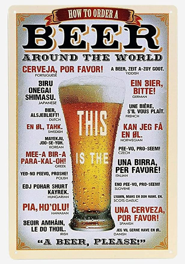Olu,Pia Christmas Concert Dec 2020 Amazon.com: ERLOOD How to Order a Beer Around The World Metal tin