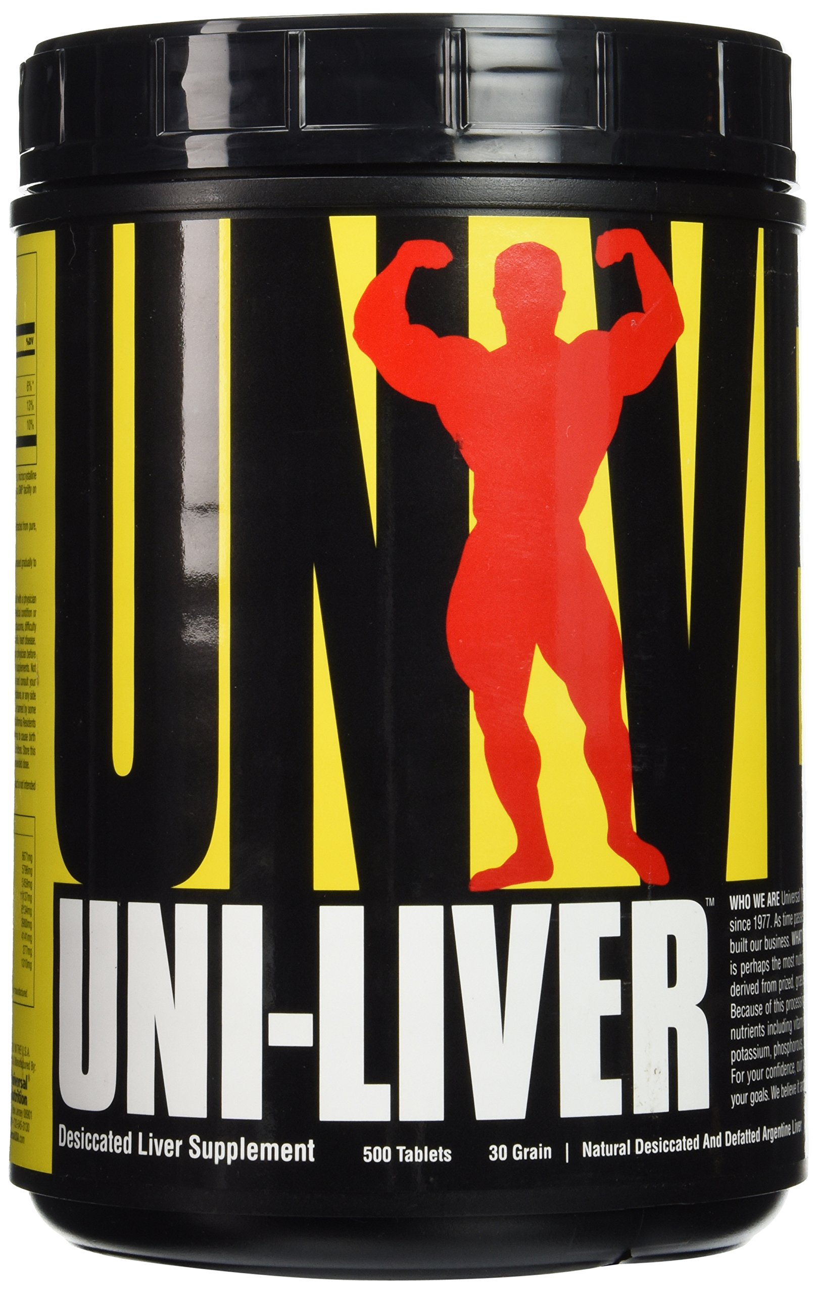 Universal Nutrition Uni-Liver, 500 Tablets by Universal Nutrition
