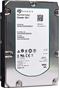 Seagate Cheetah 15K.7   ST3600057SS   600 GB 15k RPM SAS 6Gb/s 16MB Cache 3.5 Inch Internal Hard Disk Drive (Renewed)