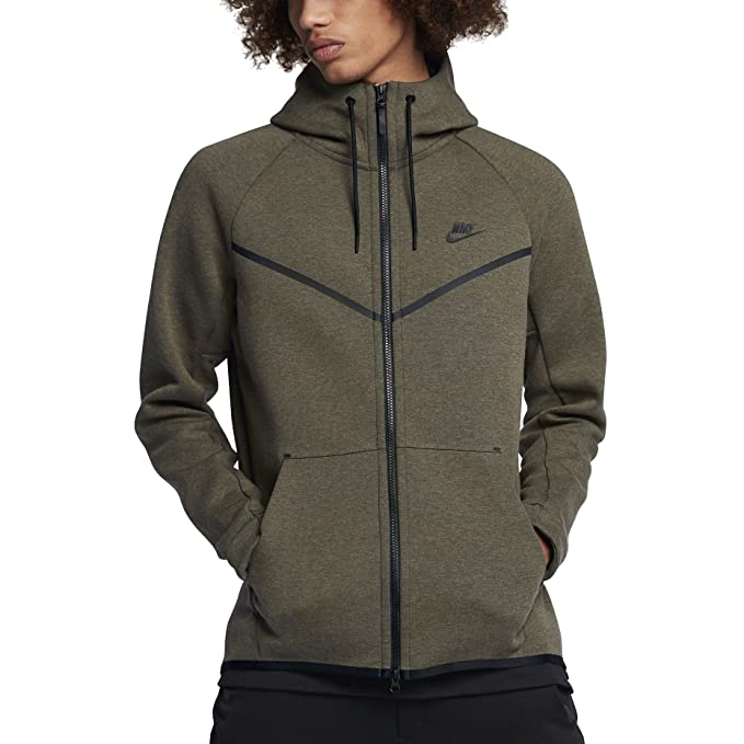 Sudadera capucha Nike – Sportswear Tech Fleece Windrunner verde/negro talla: L (Large