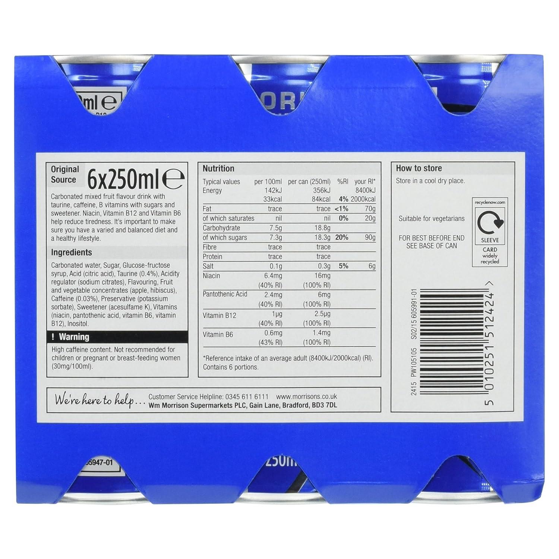 Morrisons Kitchen Appliances Morrisons Original Source Energy Drink 6 X 250ml Cans Amazonco