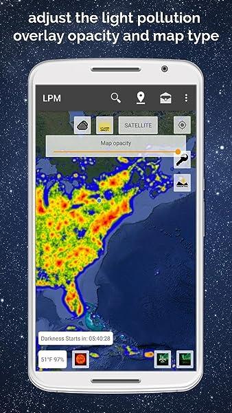 Light Pollution Map - Dark Sky Finder Astro Tools:Amazon com