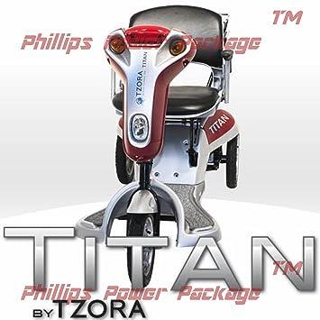 Amazon.com: Tzora – Titan – plegable ligera Scooter – Carro ...