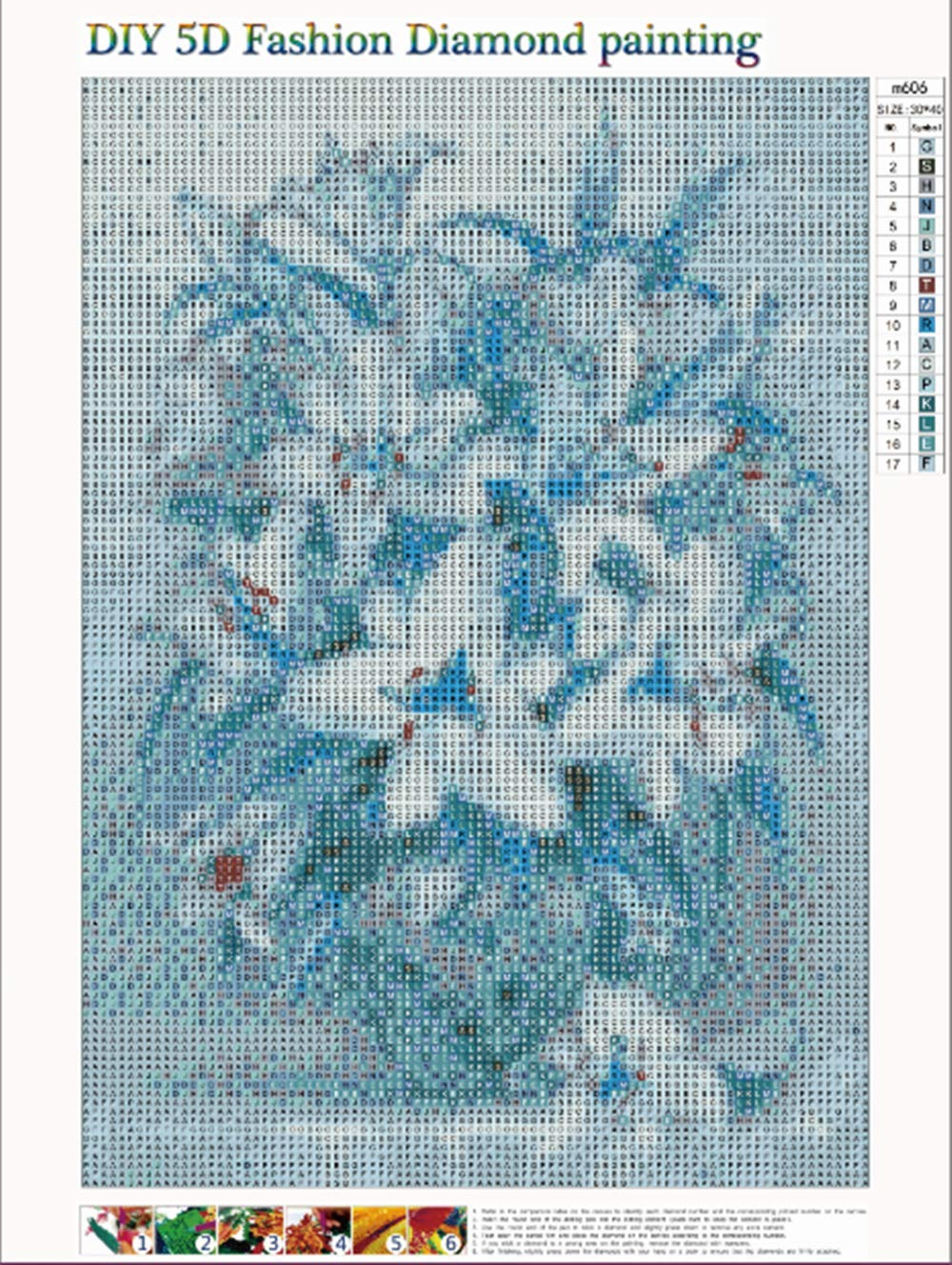 0525b24a8f 5d Diamond Painting kit,Diamond Painting Flowers Lily Rhinestone Embroidery  Cross Stitch Kits Supply Arts Craft Canvas Wall Decor Stickers 12x16 inches