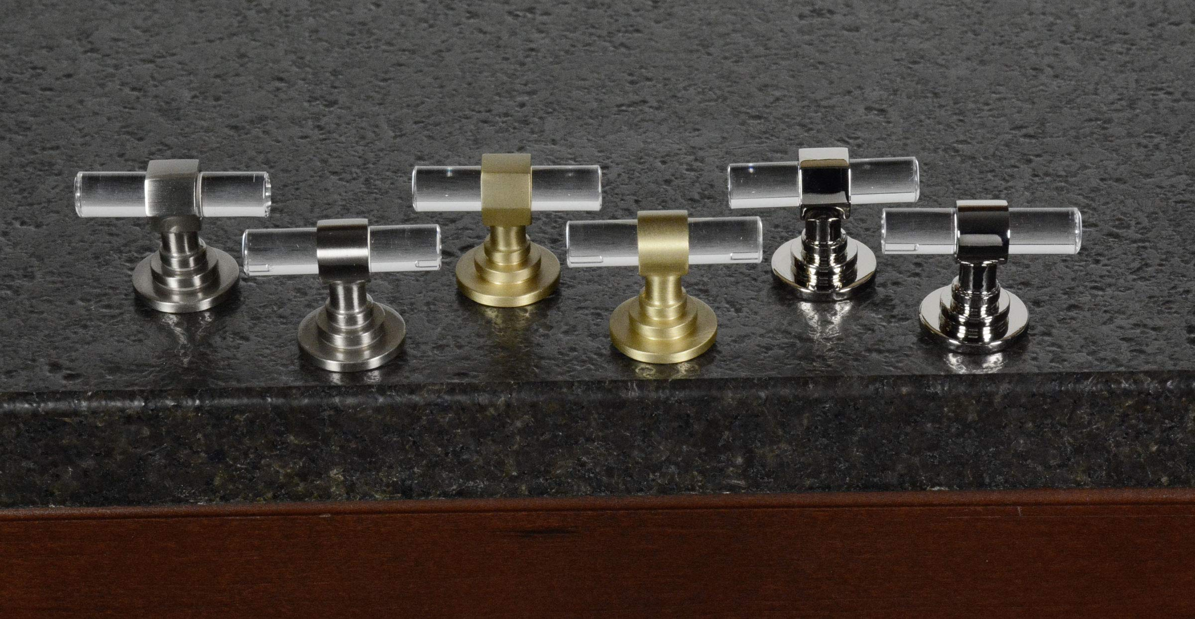 CKP Brand #750 Charlotte Collection T-Knob, Brushed Nickel/Clear - 10 Pack by CKP (Image #6)