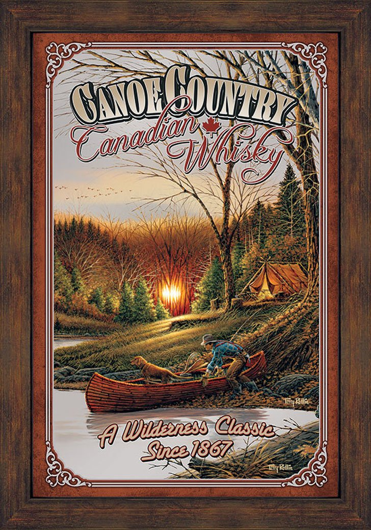 Canoe Country Canadian Whiskey by Terry Redlin
