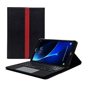 Sharon - Galaxy Tab a 10.1 (2016) Funda con Teclado Desmontable con multitouch Integrado | Layout inglés QWERTY, Posibilidad de configuración en ...