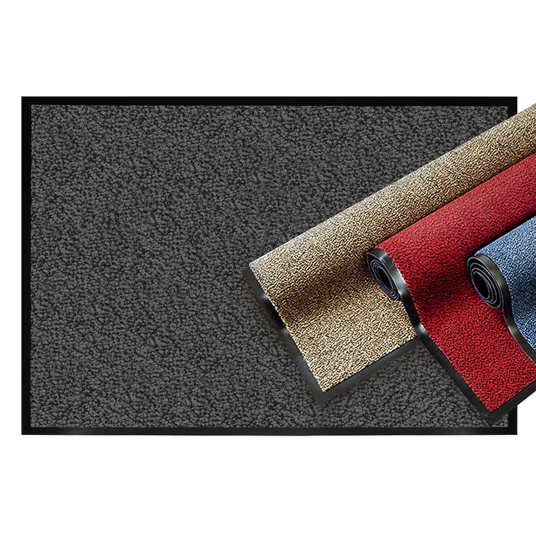 Casa pura® pura® pura® Premium Fußmatte   Sauberlaufmatte für Eingangsbereiche   Fußabtreter mit Testnote 1,7   Schmutzfangmatte in 8 Größen als Türvorleger innen und außen   anthrazit - grau   90x150cm B07MQ9MMW7 Fumatten a61eee