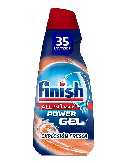 Finish Gel Lavavajillas Todo en 1 Max Anti Olor - 35 dosis