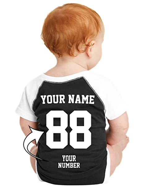 d717532e6fa33 Tee Miracle Custom Baby Baseball Jerseys & Onesies - Personalized Raglan  Jersey T Shirts For Babies