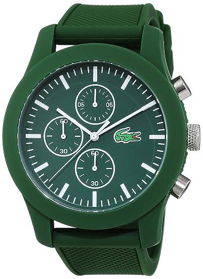 Lacoste 2010822 - Reloj analógico de pulsera para hombre, esfera con cronógrafo, correa de silicona,Verde: Lacoste: Amazon.es: Relojes