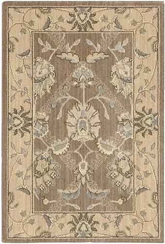 Nourison Persian Empire Mocha Rectangle Area Rug, 2-Feet by 3-Feet 2 x 3
