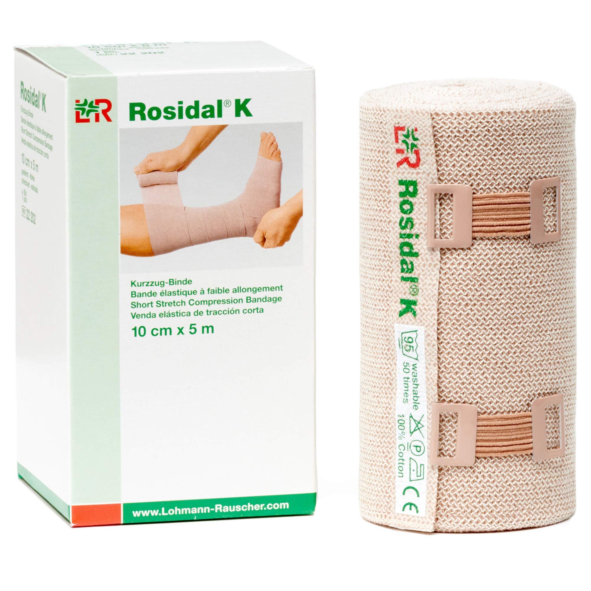 Rosidal K 10cm x 5m Short-Stretch Bandages 4 Each by Lohmann Rauscher