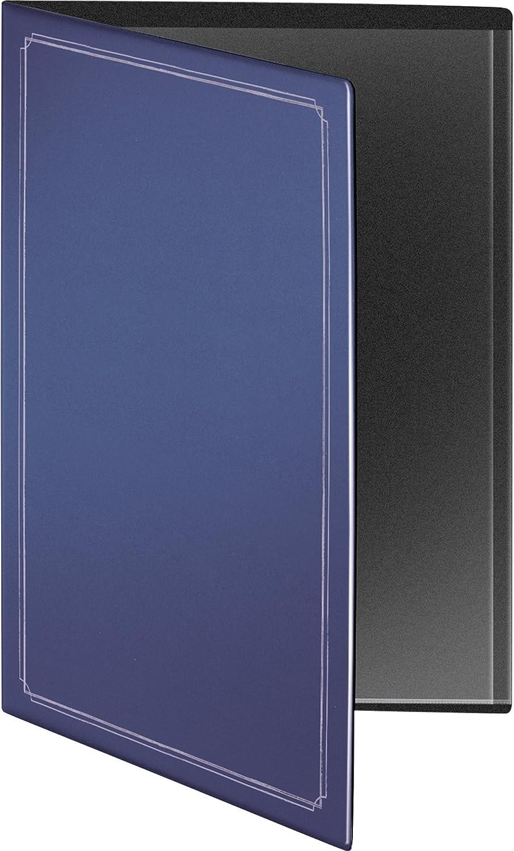 22.7 x 31.5 cm blau RNK 2831-4 Urkundenmappe aus Kunststoff mit Silberdruck