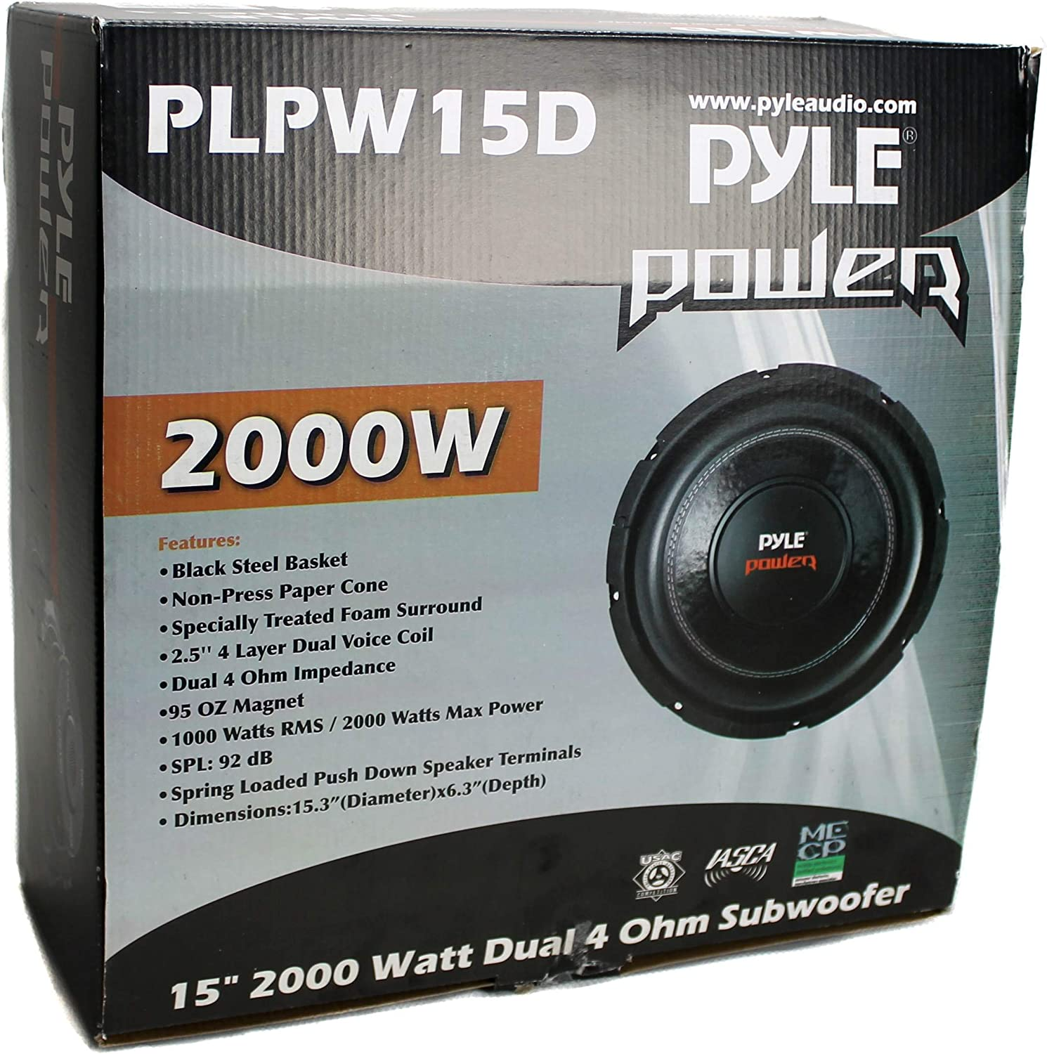 """2 Vented Box Lanzar 2 Channel Amp Pyle 15/"""" PLPW15D Subwoofers Wiring Kit"""