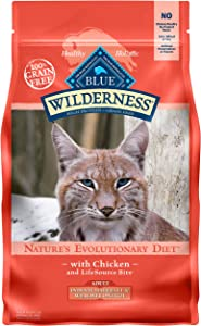 Blue Buffalo Wilderness High Protein, Natural Adult Indoor Hairball & Weight Control Dry Cat Food, Chicken 5-lb