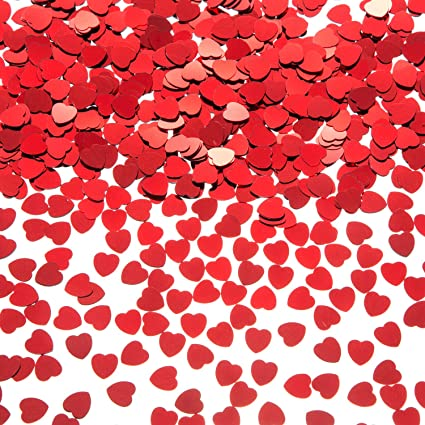 Heart Confetti Embellishments Card Making Scrapbook Party Crafts Supplies